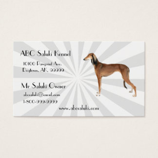 Saluki with white Starburst Business Card