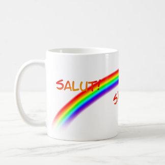 SALUT! RAINBOW COFFEE MUG