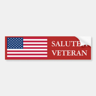 Salute a Veteran US Flag Bumper Sticker