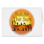 Salute the Sun Greeting Card