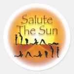 Salute the Sun Sticker