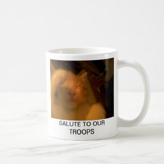 salute to our troops basic white mug