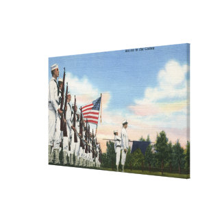 Salute to the Colors Formation - US Navy Canvas Print