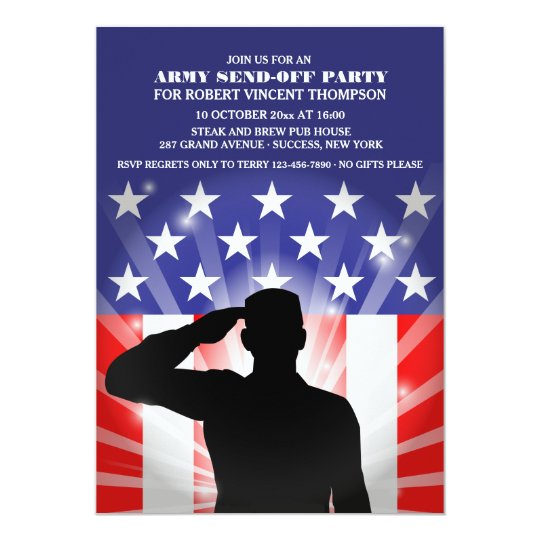 Salute to the Flag Military Send-Off Invitation