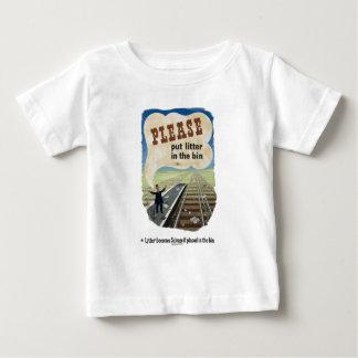 Salvage_Please_put_litter_in_the_bin.18x12.jpg Baby T-Shirt