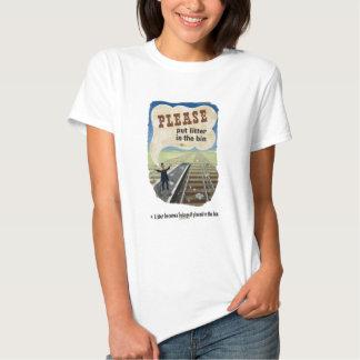 Salvage_Please_put_litter_in_the_bin.18x12.jpg Tee Shirts