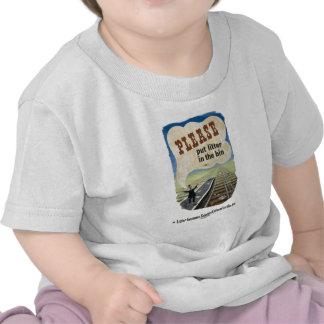 Salvage_Please_put_litter_in_the_bin 18x12 jpg T Shirt