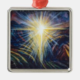 Salvation Silver-Colored Square Decoration