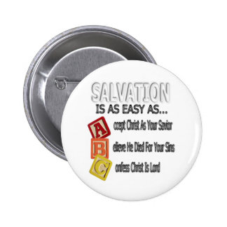 Salvation Is Easy As ABC Pin