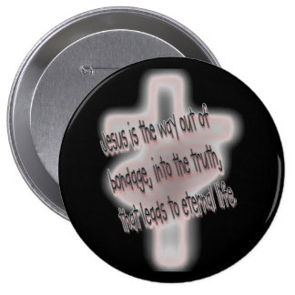 Salvation simply stated 10 cm round badge