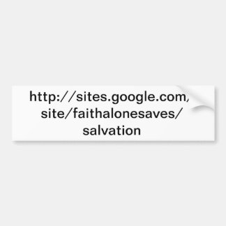 Salvation website bumper sticker