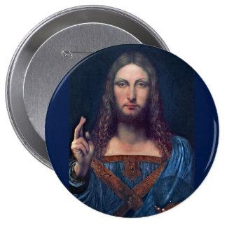 Salvator Mundi by Leonardo da Vinci 10 Cm Round Badge