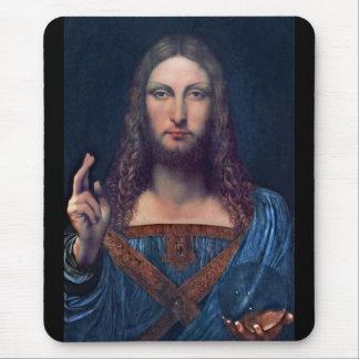 Salvator Mundi by Leonardo da Vinci Mouse Pad