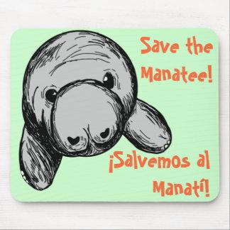 ¡Salvemos al Manatí!/ Save the Manatee¡ Mouse Pad