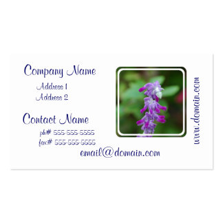 Salvia Double-Sided Standard Business Cards (Pack Of 100)