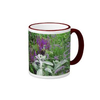 Salvia, lavendar, lamb's ear mug