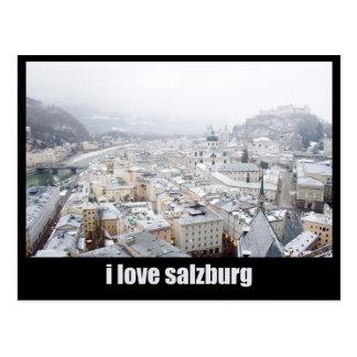 Salzburg (Austria) Photo, I love Salzburg Postcard