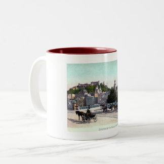 Salzburg, Austria, Staatsbrücke, 1910 Vintage Two-Tone Coffee Mug
