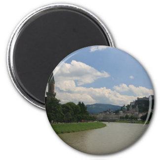 Salzburg Castle 6 Cm Round Magnet