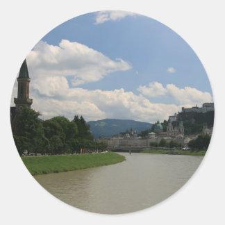 Salzburg Castle Round Sticker