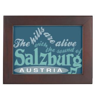Salzburg custom monogram keepsake box