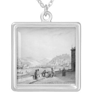 Salzburg, engraved by Bayot & Cuvilier, 1840 Silver Plated Necklace