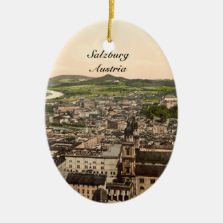 Salzburg from Maria Plain, Austria Christmas Ornament