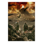 Sam and Frodo Approaching Mount Doom Poster