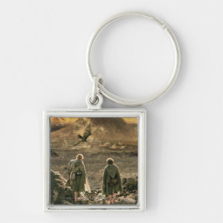 Sam and FRODO™ Approaching Mount Doom Silver-Colored Square Key Ring