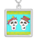 Sam and Sally Skull Necklace!