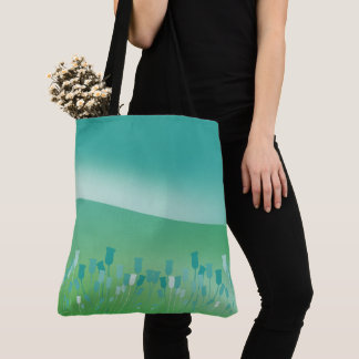 Sam Browne belt green landscape Tote Bag