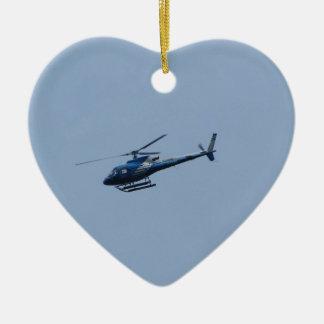 SAM Ecureuil Helicopter Ceramic Heart Decoration