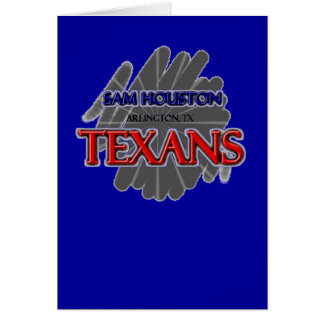 Sam Houston High School Texans - Arlington, TX Greeting Card
