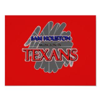 Sam Houston High School Texans - Arlington, TX Personalized Invitation