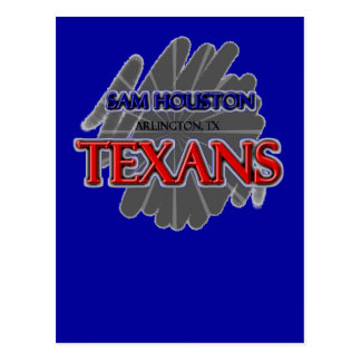 Sam Houston High School Texans - Arlington, TX Postcard