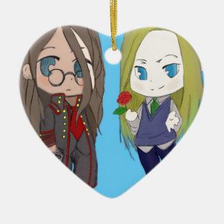 Sam & L Ceramic Heart Decoration