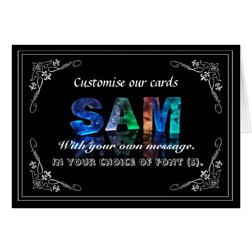 Sam -  Name in Lights greeting card (Photo)