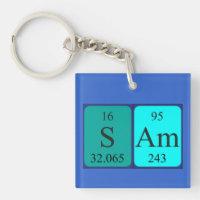 Periodic table key rings periodic table key ring designs zazzle sam periodic table name keyring urtaz Image collections