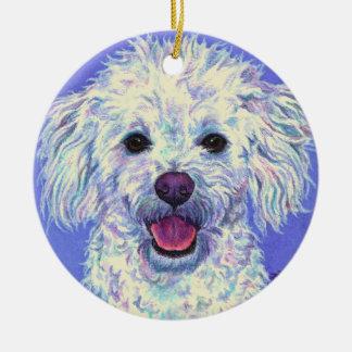"""Sam"" - Poodle Mix - Ornament #2"