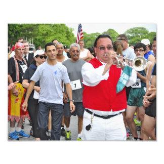 Sam the Bugler at Belmont s 5k Run Photograph