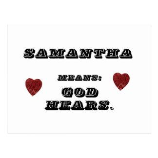 Samantha Postcard
