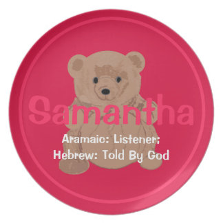 Samantha Teddy Bear Plate