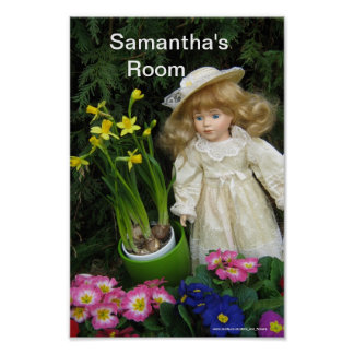 Samantha's room poster