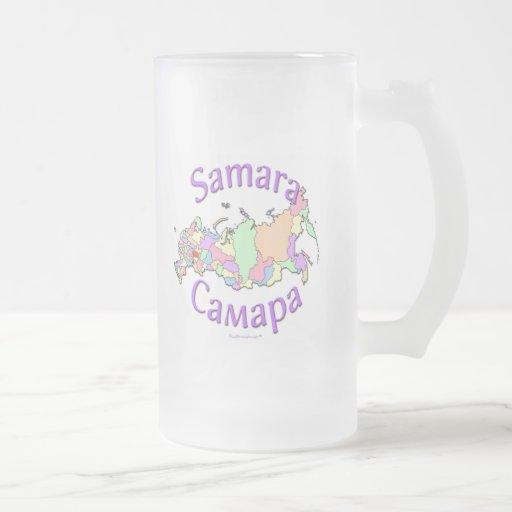 Samara City Russia Map Mug