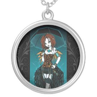 """Samara""  Steampunk Cyber Fairy Necklace"