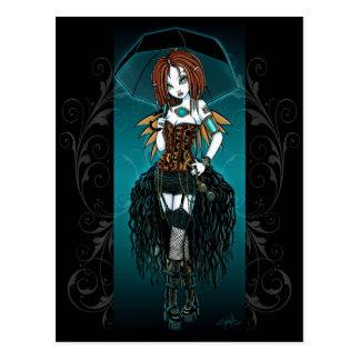 Samara Steampunk Cyber Fairy Postcard