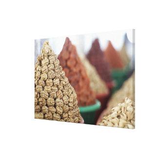 Samarkand, Uzbekistan. Nuts and apricots for Canvas Print