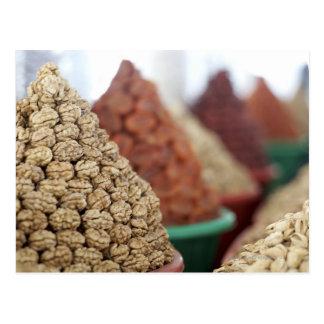 Samarkand, Uzbekistan. Nuts and apricots for Postcard