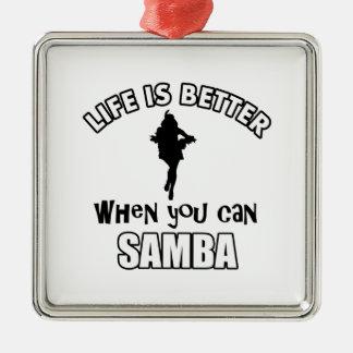 samba Dance Designs Christmas Ornament