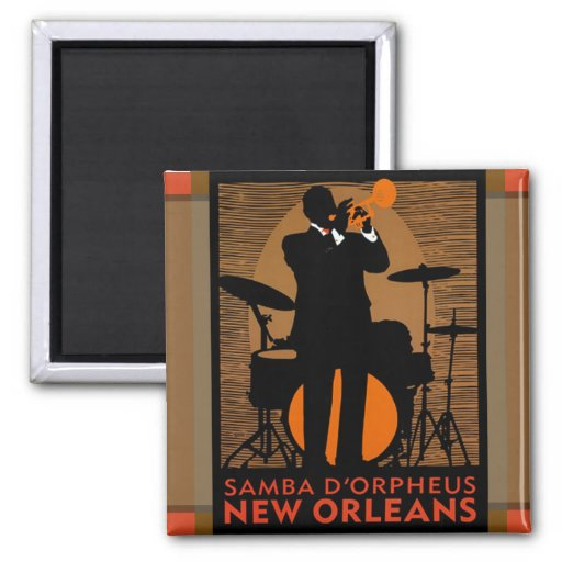 Samba D'Orpheus New Orleans Refrigerator Magnets